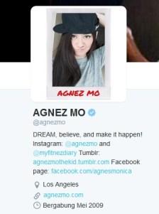 Twit Agnez Mo