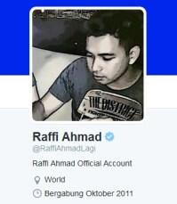 Twit Raffi ahmad