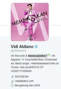 Twit Vidi Aldiano